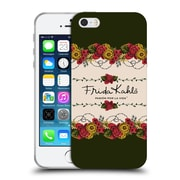 Official Frida Kahlo Red Florals Border Soft Gel Case For Apple Iphone 5 / 5S / Se
