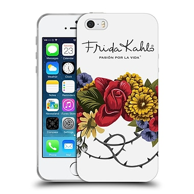 Official Frida Kahlo Red Florals Bunch Soft Gel Case For Apple Iphone 5 / 5S / Se