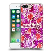 Official Cat Coquillette Quotes Typography 5 Wanderlust Magenta Soft Gel Case For Apple Iphone 7 Plus