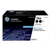 HP 26A Black Standard Yield Toner Cartridge, 2/Pack