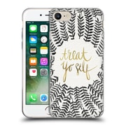 Official Cat Coquillette Treat Yo Self Grey Soft Gel Case For Apple Iphone 7
