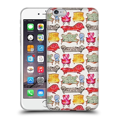 Official Cat Coquillette Patterns 2 Rainbow Victorian Lounge Soft Gel Case For Apple Iphone 6 Plus / 6S Plus