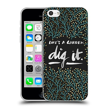 Official Cat Coquillette Quotes Typography 2 Dig It Black Turquoise Soft Gel Case For Apple Iphone 5C