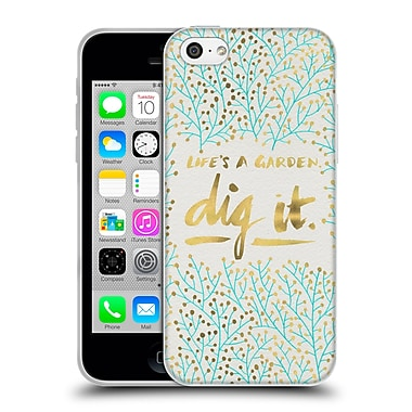 Official Cat Coquillette Quotes Typography 2 Dig It Turquoise Soft Gel Case For Apple Iphone 5C