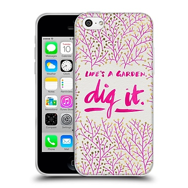 Official Cat Coquillette Quotes Typography 2 Dig It Pink Soft Gel Case For Apple Iphone 5C