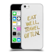 Official Cat Coquillette Quotes Typography 3 Eat Well Travel Often Gold Soft Gel Case For Apple Iphone 5C