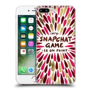 Official Cat Coquillette Quotes Typography 5 Snapchat Red Gold Hard Back Case For Apple Iphone 7 Plus