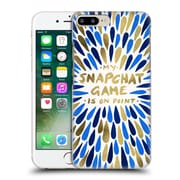 Official Cat Coquillette Quotes Typography 5 Snapchat Navy Gold Hard Back Case For Apple Iphone 7 Plus