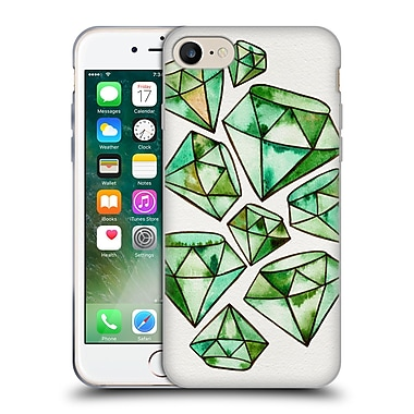 Official Cat Coquillette Watercoloured Gems Emerald Tattoos Soft Gel Case For Apple Iphone 7