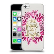 Official Cat Coquillette Quotes Typography 1 Future Is Bright Pink Soft Gel Case For Apple Iphone 5C