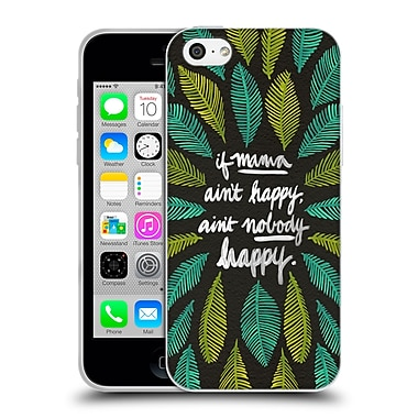 Official Cat Coquillette Quotes Typography 1 If Mama Ain'T Happy Black Green Soft Gel Case For Apple Iphone 5C