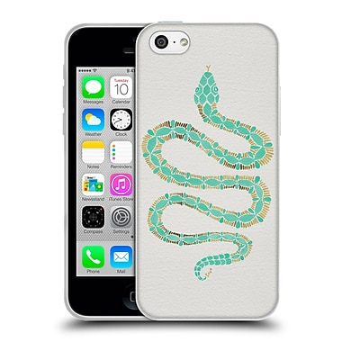 Official Cat Coquillette Animals Snake Mint Soft Gel Case For Apple Iphone 5C