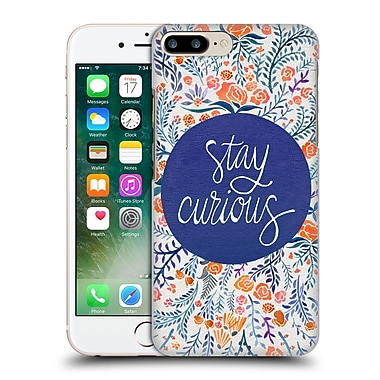 Official Cat Coquillette Quotes Typography 4 Stay Curious Navy Hard Back Case For Apple Iphone 7 Plus