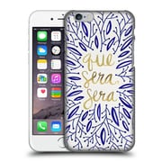 Official Cat Coquillette Quotes Typography 5 Whatever Will Be Navy Gold Hard Back Case For Apple Iphone 6 / 6S