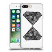 Official Cat Coquillette Watercoloured Gems Black Diamond Soft Gel Case For Apple Iphone 7 Plus