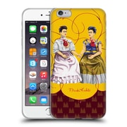Official Frida Kahlo Self-Portraits Pattern Mix Red Soft Gel Case For Apple Iphone 6 Plus / 6S Plus