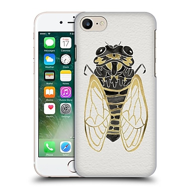 Official Cat Coquillette Insects Cicada Gold Black Hard Back Case For Apple Iphone 7