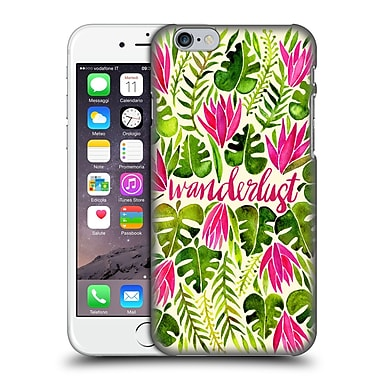 Official Cat Coquillette Quotes Typography 5 Wanderlust Pink Lime Hard Back Case For Apple Iphone 6 / 6S