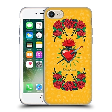 Official Frida Kahlo Icons Heart And Roses Soft Gel Case For Apple Iphone 7