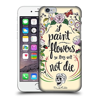Official Frida Kahlo Typography Floral Blooms Hard Back Case For Apple Iphone 6 / 6S