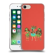 Official Cat Coquillette Watercolour Illustrations Luau Girls Coral Soft Gel Case For Apple Iphone 7