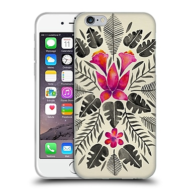 Official Cat Coquillette Nature Grey Pink Tropical Symmetry Soft Gel Case For Apple Iphone 6 / 6S