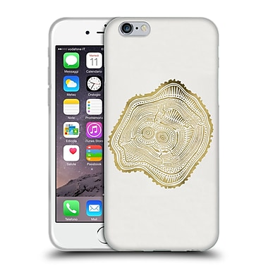 Official Cat Coquillette Nature Gold Peach Leaf Soft Gel Case For Apple Iphone 6 / 6S