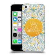 Official Cat Coquillette Quotes Typography 4 Stay Curious Yellow Soft Gel Case For Apple Iphone 5C