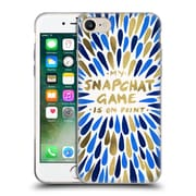 Official Cat Coquillette Quotes Typography 5 Snapchat Navy Gold Soft Gel Case For Apple Iphone 7