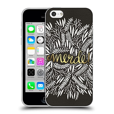 Official Cat Coquillette Quotes Typography 4 Merde Black Gold Soft Gel Case For Apple Iphone 5C