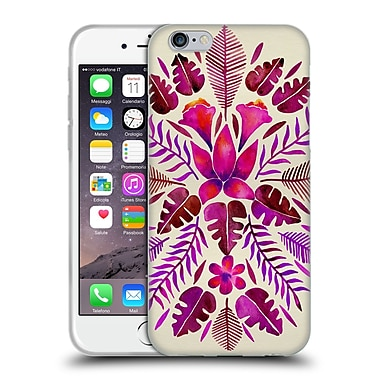 Official Cat Coquillette Nature Magenta Tropical Symmetry Soft Gel Case For Apple Iphone 6 / 6S