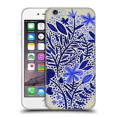 Official Cat Coquillette Patterns Garden Blue Soft Gel Case For Apple Iphone 6 / 6S