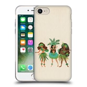 Official Cat Coquillette Watercolour Illustrations Luau Girls Beige Soft Gel Case For Apple Iphone 7