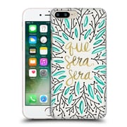 Official Cat Coquillette Quotes Typography 5 Whatever Will Be Turquoise Gold Hard Back Case For Apple Iphone 7 Plus