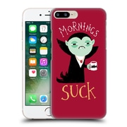 Official Dinomike Fun Illustrations Mornings Suck Hard Back Case For Apple Iphone 7 Plus