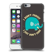 Official Dinomike Fun Illustrations An Elephant Never Cares Hard Back Case For Apple Iphone 6 / 6S