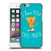Official Dinomike Fun Illustrations I Love You This Much Hard Back Case For Apple Iphone 6 / 6S