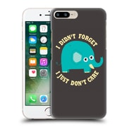 Official Dinomike Fun Illustrations An Elephant Never Cares Hard Back Case For Apple Iphone 7 Plus