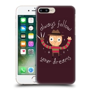 Official Dinomike Fun Illustrations Always Follow Your Dreams Hard Back Case For Apple Iphone 7 Plus