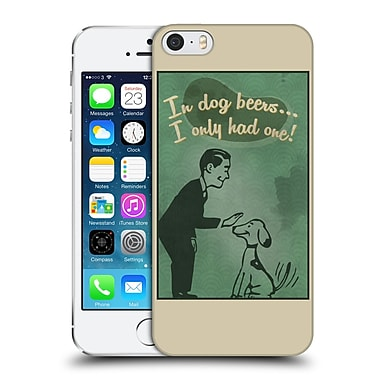 Official Lantern Press Man Cave In Dog Beers Hard Back Case For Apple Iphone 5 / 5S / Se