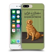 Official Lantern Press Dog Collection Life Is Better With A Golden Retriever Hard Back Case For Apple Iphone 7 Plus