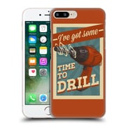 Official Lantern Press Man Cave Time To Drill Hard Back Case For Apple Iphone 7 Plus