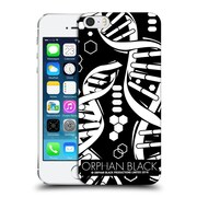 Official Orphan Black Logo & Helix B&W Dna Logo Hard Back Case For Apple Iphone 5 / 5S / Se