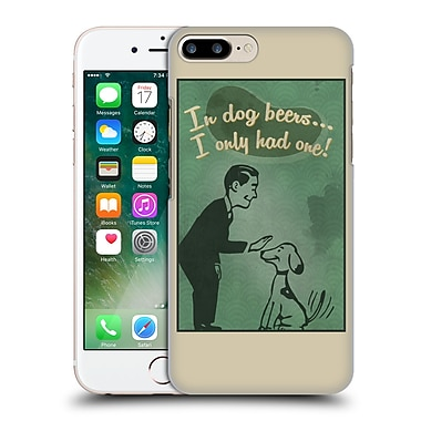 Official Lantern Press Man Cave In Dog Beers Hard Back Case For Apple Iphone 7 Plus