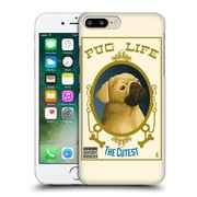 Official Lantern Press Dog Collection Pug Life Hard Back Case For Apple Iphone 7 Plus