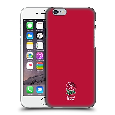 Official England Rugby Union 2016/17 The Rose Plain Red Hard Back Case For Apple Iphone 6 / 6S