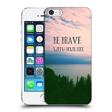 Official Olivia Joy Stclaire Typography Be Brave With Your Life Hard Back Case For Apple Iphone 5 / 5S / Se