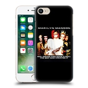 Official Marilyn Manson Key Art Sex Drugs And Rock & Roll Hard Back Case For Apple Iphone 7