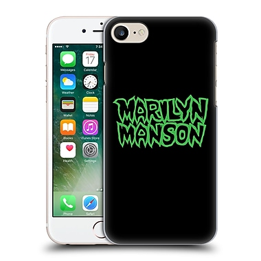 Official Marilyn Manson Key Art Logo Hard Back Case For Apple Iphone 7