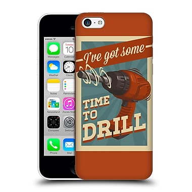 Official Lantern Press Man Cave Time To Drill Hard Back Case For Apple Iphone 5C